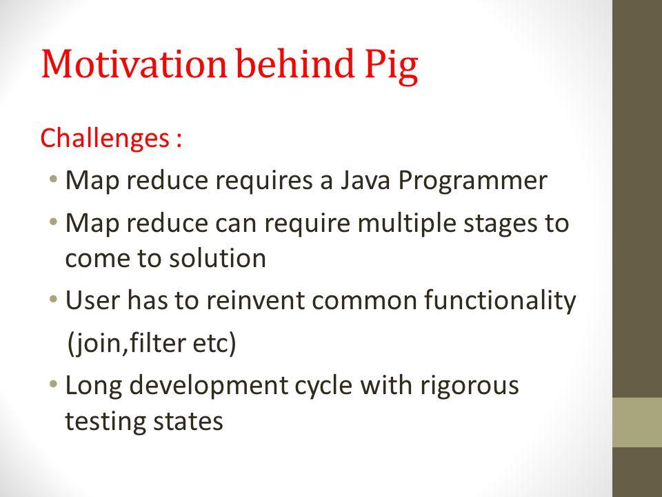 Motivation behind Pig Challenges :