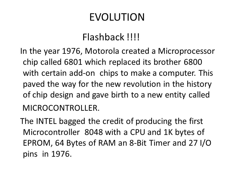 EVOLUTION Flashback !!!!