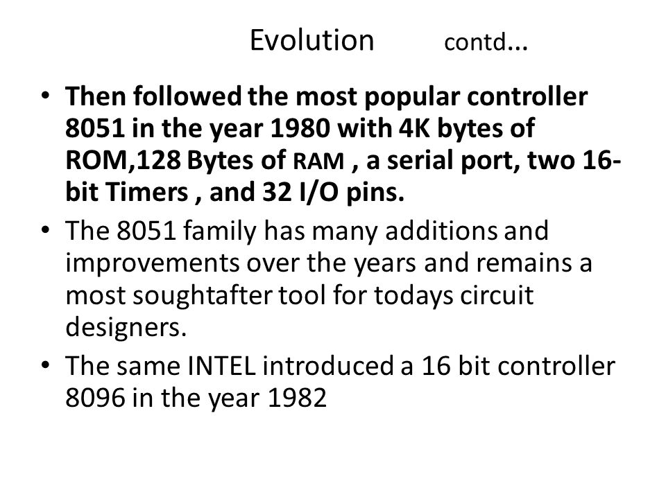 Evolution contd…