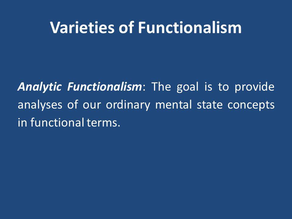 Varieties of Functionalism
