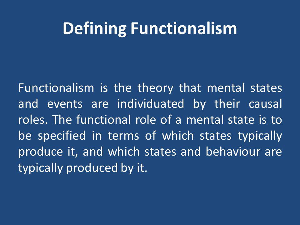 Defining Functionalism
