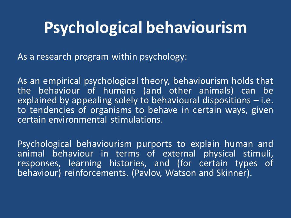 Psychological behaviourism