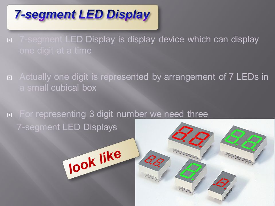 look like 7-segment LED Display