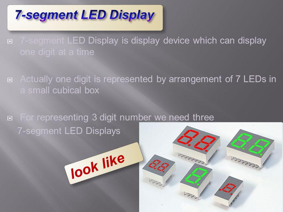 look like 7-segment LED Display