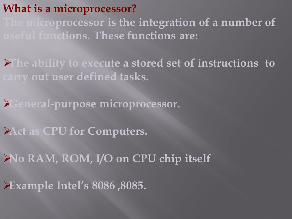 What is a microprocessor