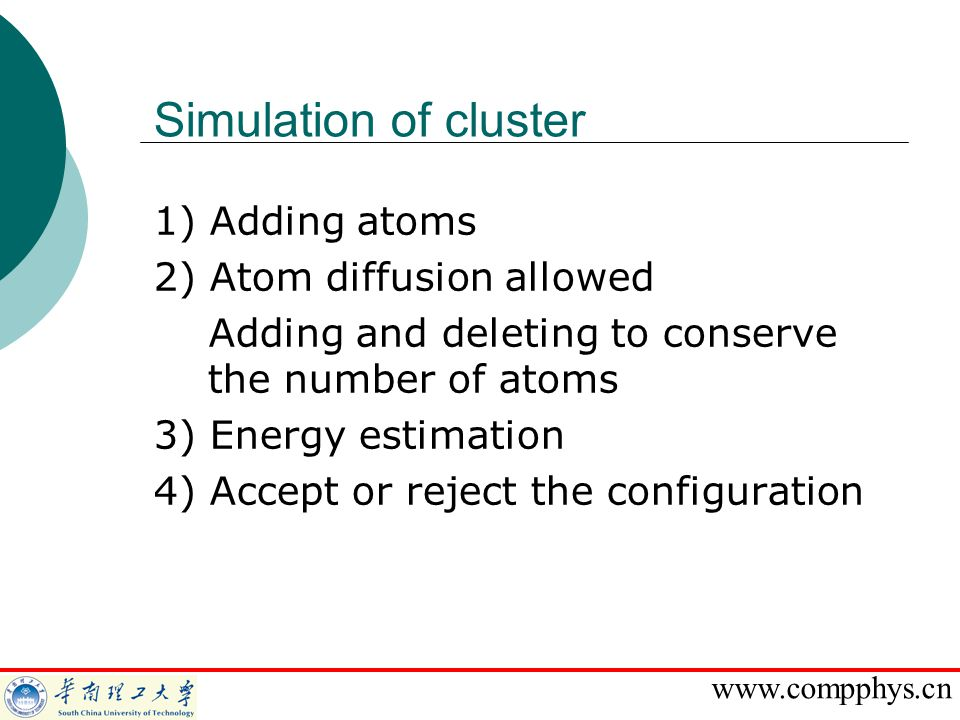 Simulation of cluster