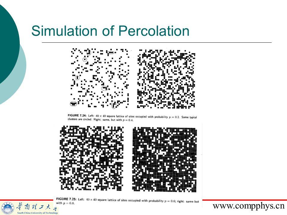 Simulation of Percolation