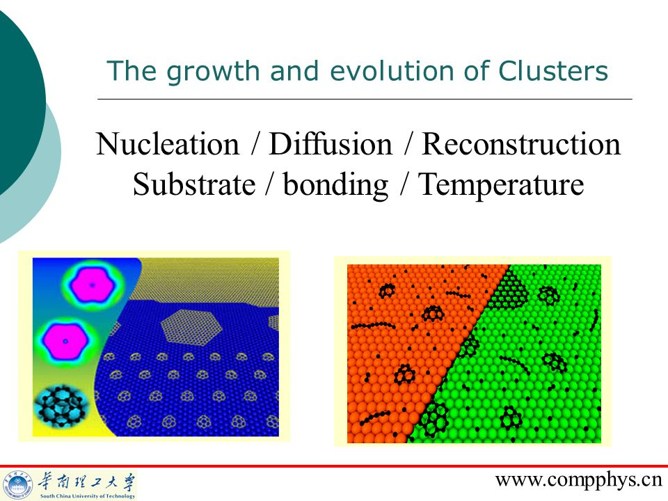 Nucleation / Diffusion / Reconstruction