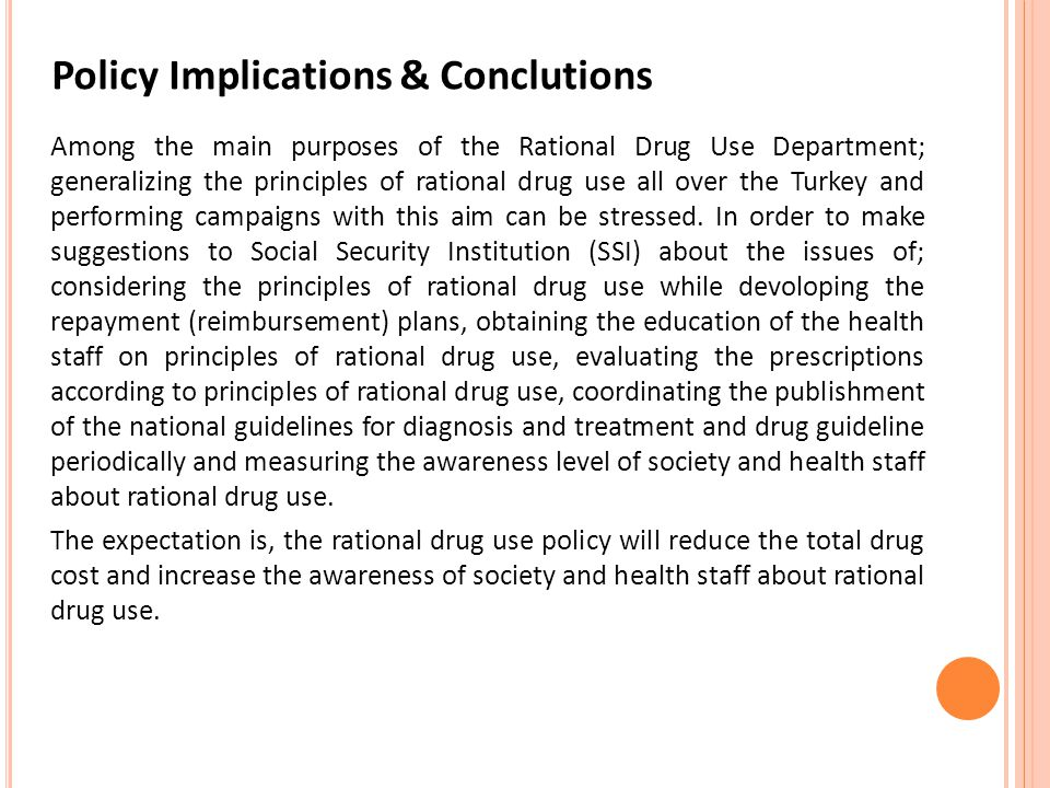 Policy Implications & Conclutions
