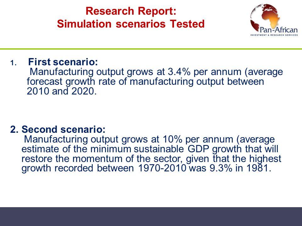 Research Report: Simulation scenarios Tested
