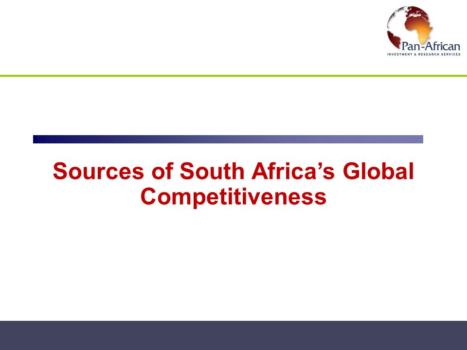 Sources of South Africa's Global Competitiveness