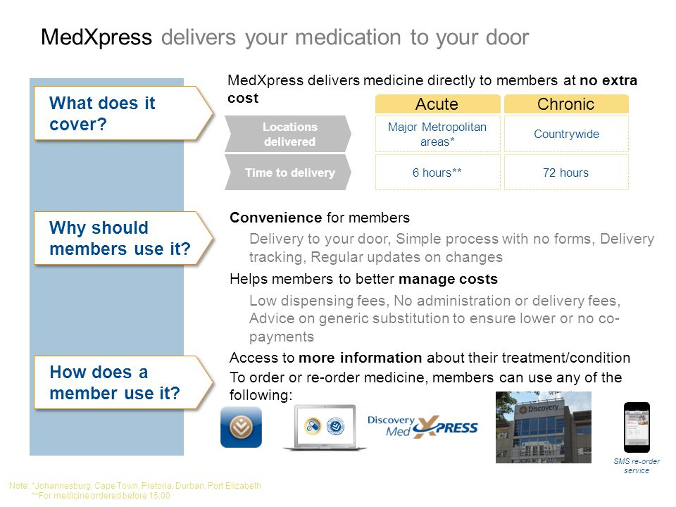 MedXpress delivers your medication to your door