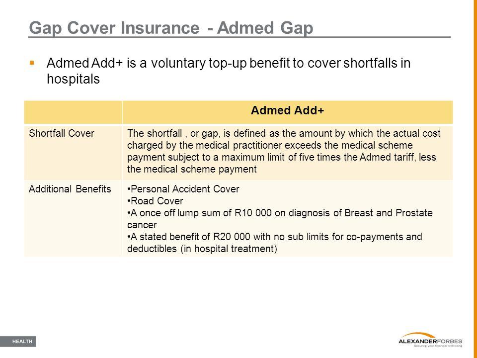 Gap Cover Insurance - Admed Gap