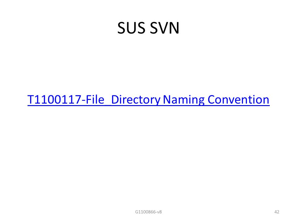T File_Directory Naming Convention