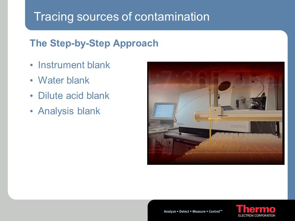 Tracing sources of contamination