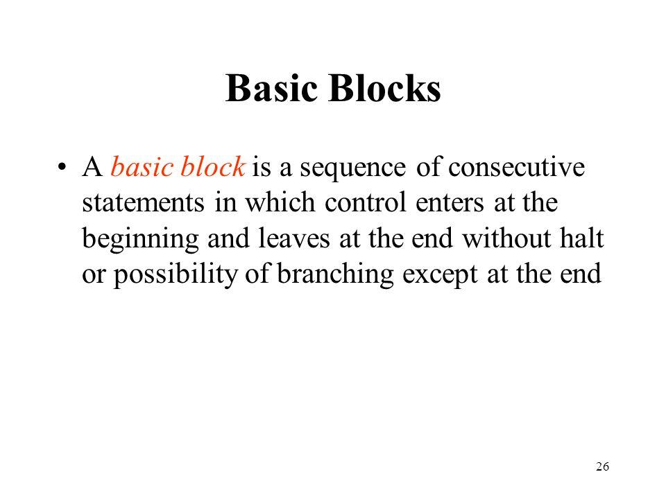 Basic Blocks