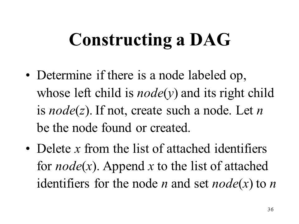Constructing a DAG