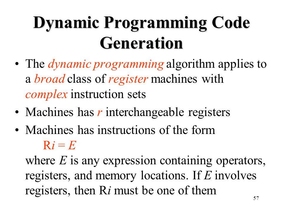 Dynamic Programming Code Generation