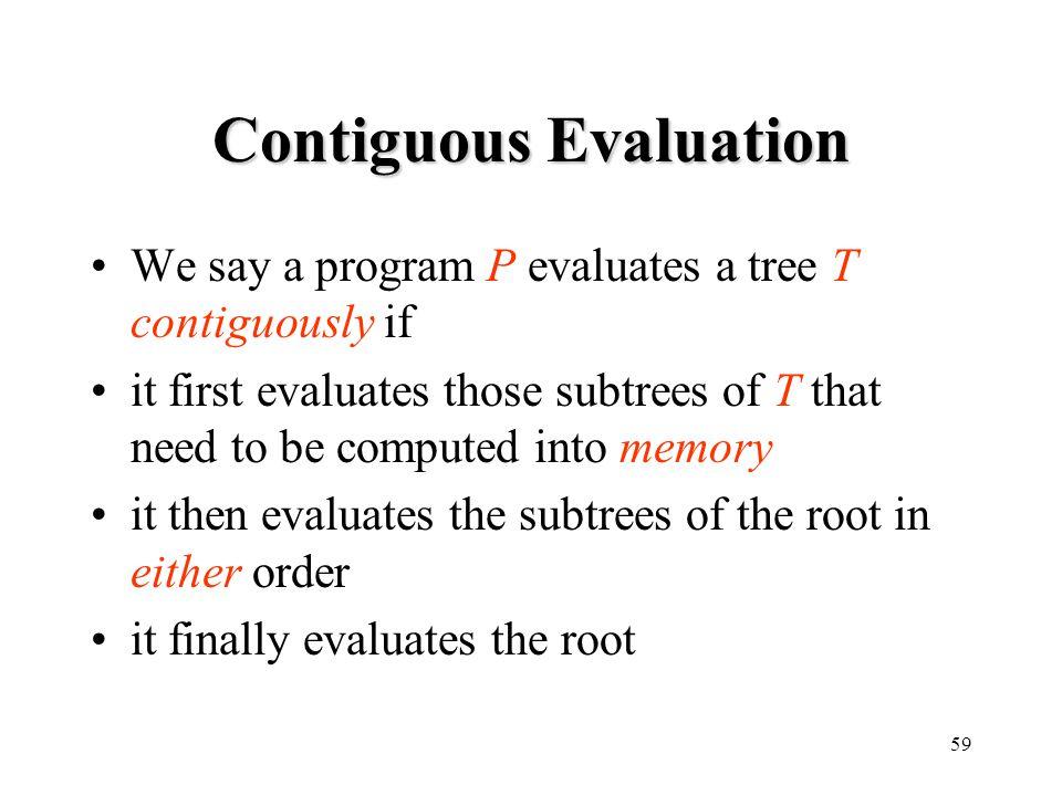 Contiguous Evaluation