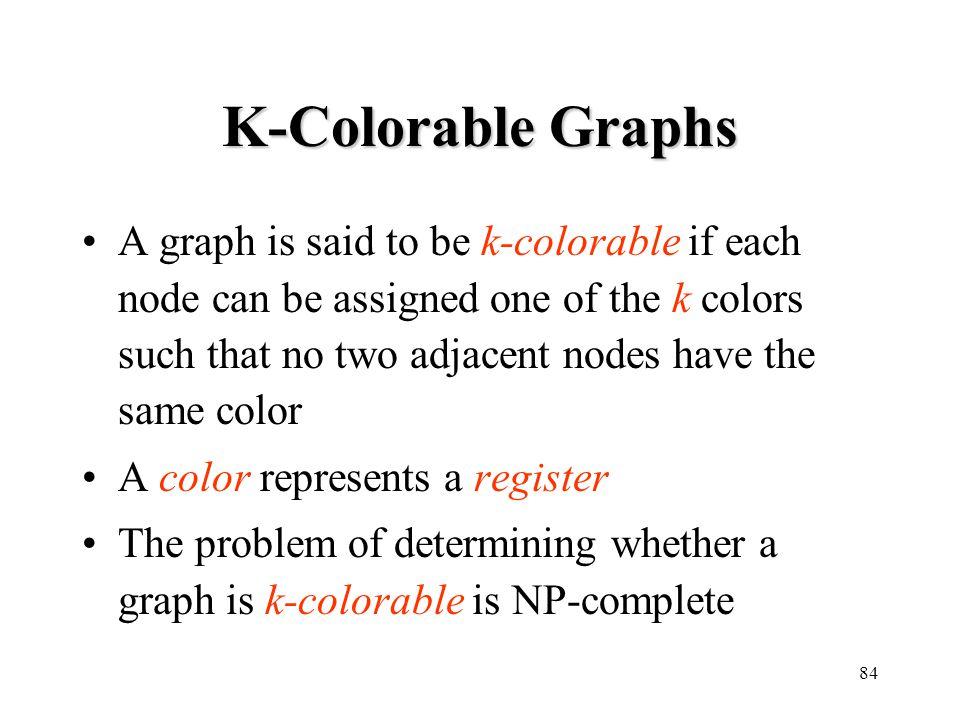 K-Colorable Graphs
