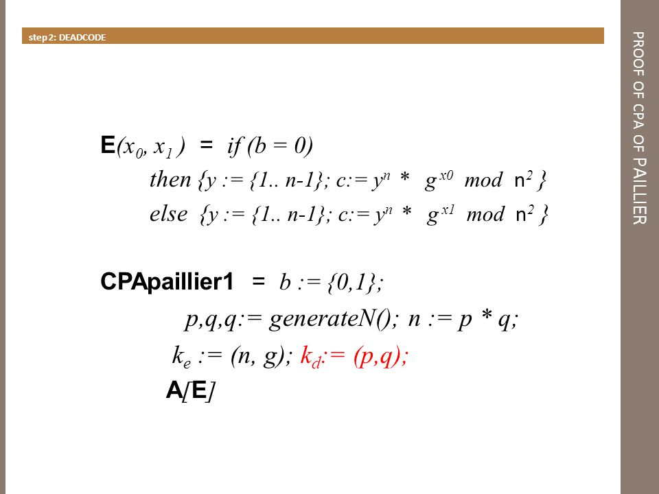 proof of cpa of PAILLIER