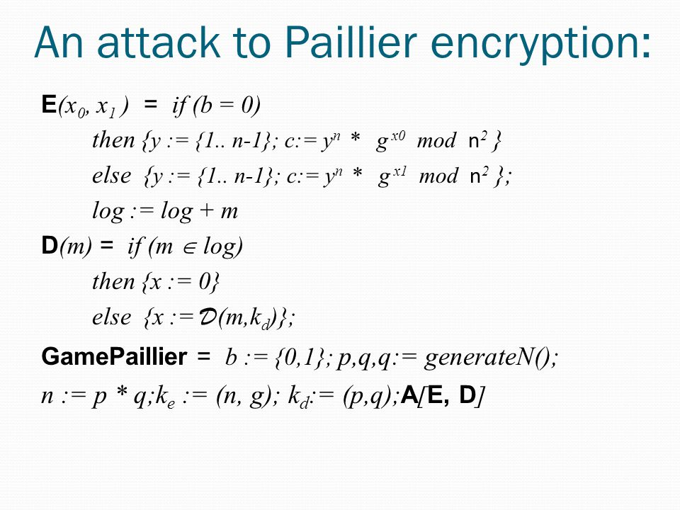 An attack to Paillier encryption: