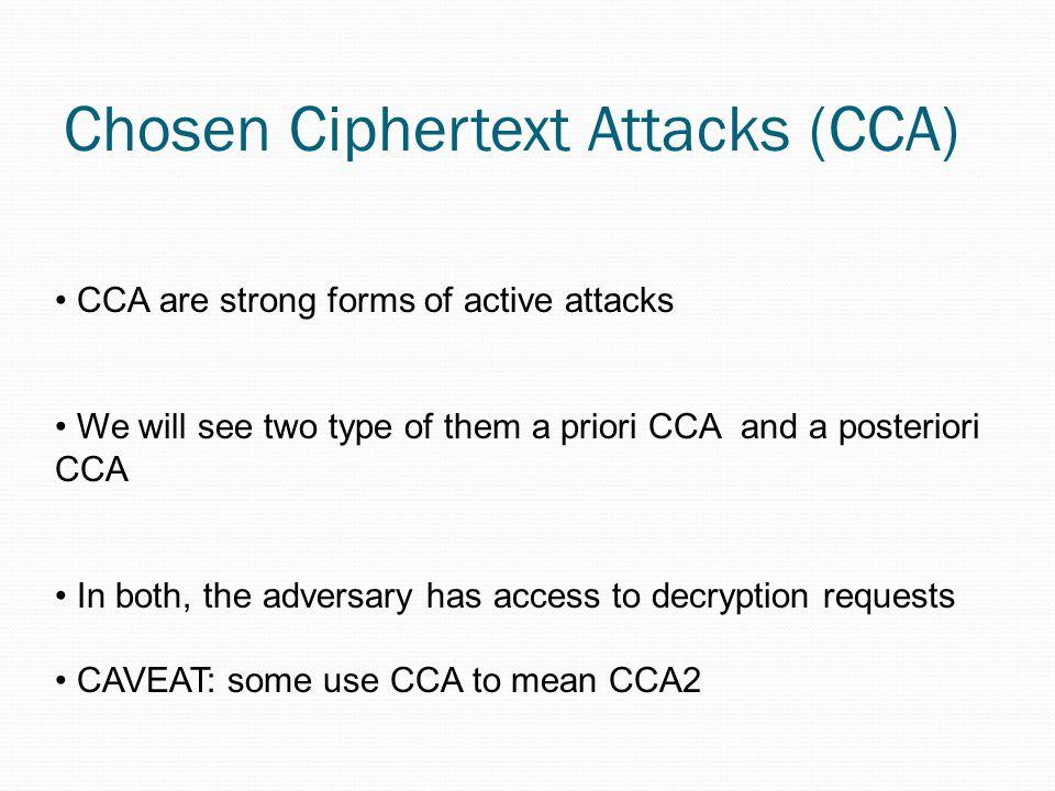 Chosen Ciphertext Attacks (CCA)