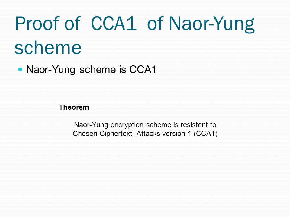 Proof of CCA1 of Naor-Yung scheme