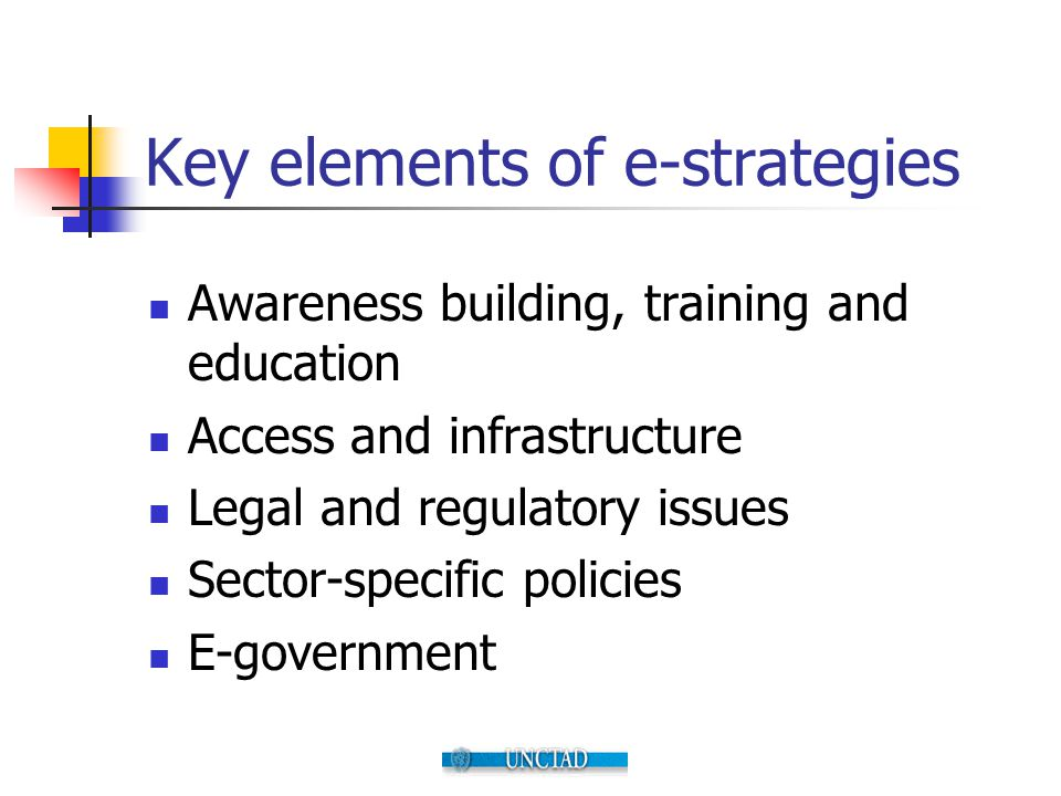 Key elements of e-strategies