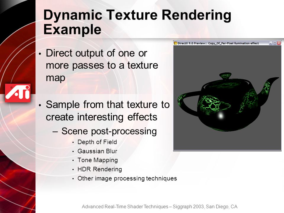 Dynamic Texture Rendering Example