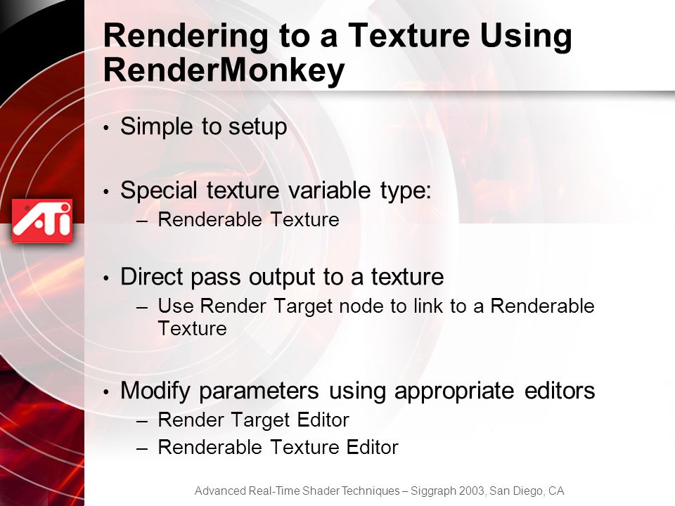 Rendering to a Texture Using RenderMonkey
