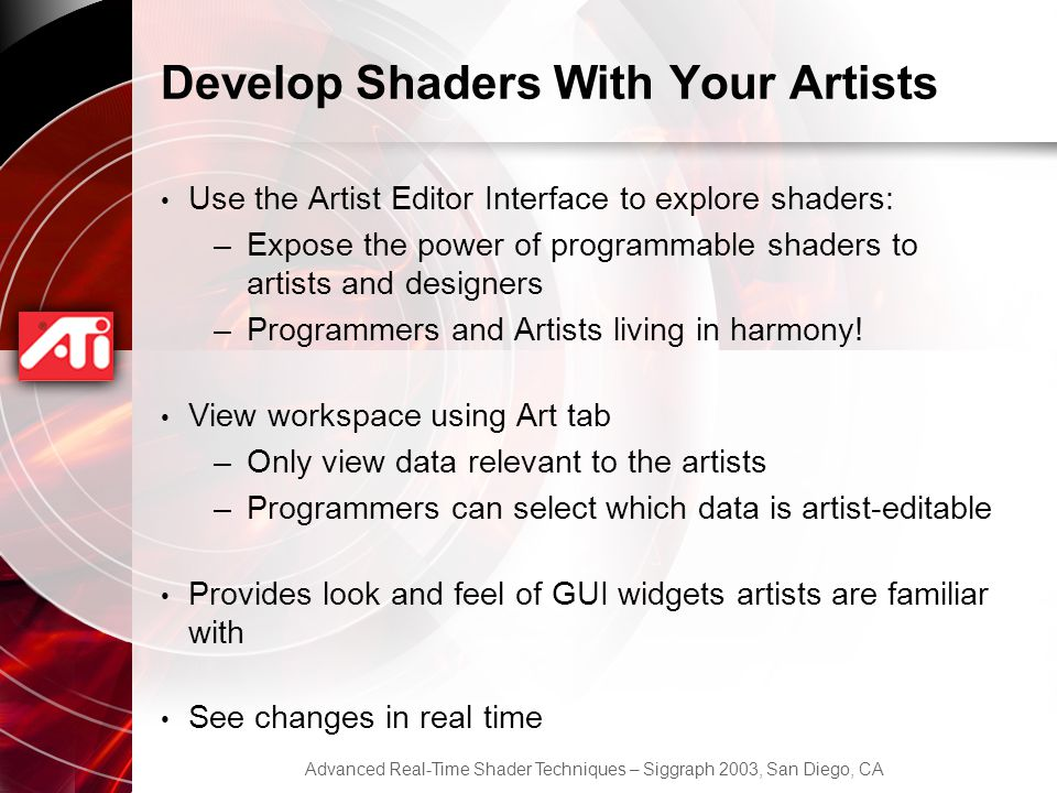 Develop Shaders With Your Artists