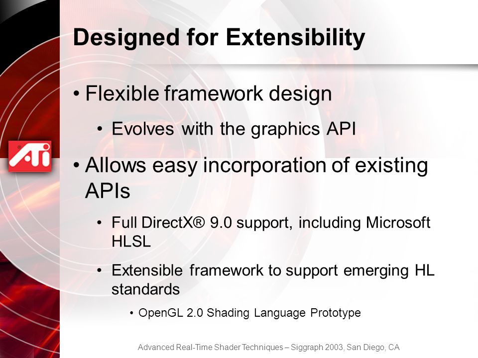 Designed for Extensibility