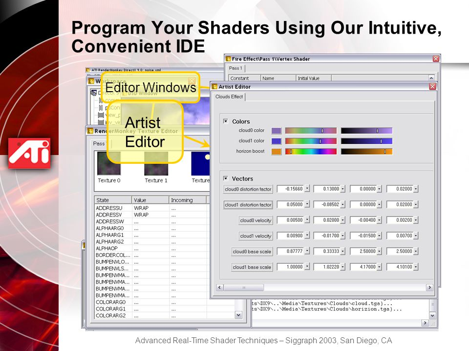 Program Your Shaders Using Our Intuitive, Convenient IDE