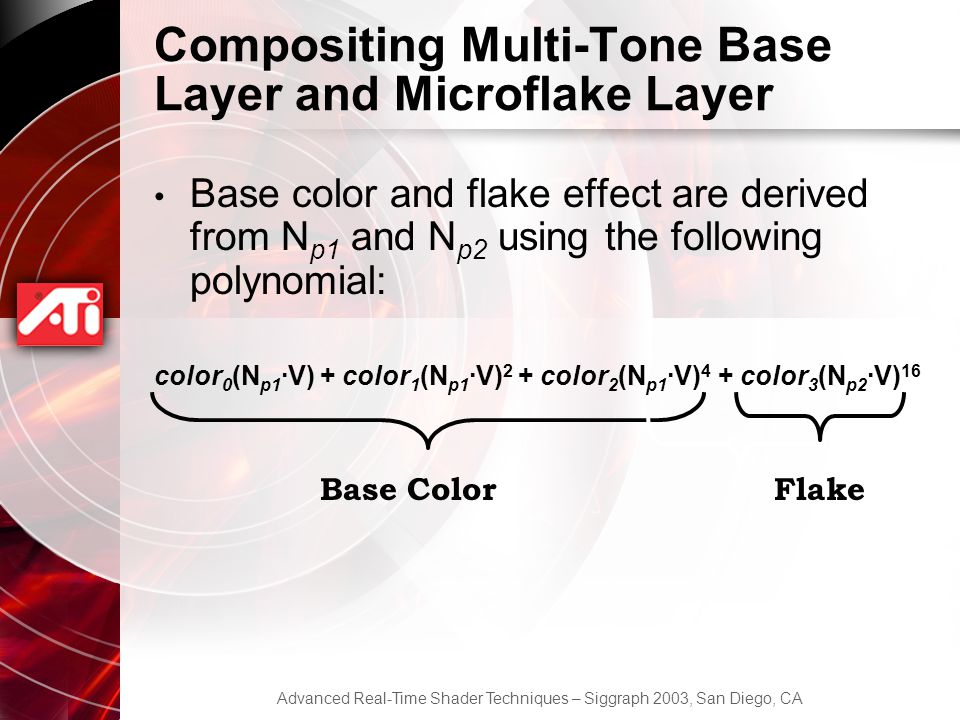 Compositing Multi-Tone Base Layer and Microflake Layer