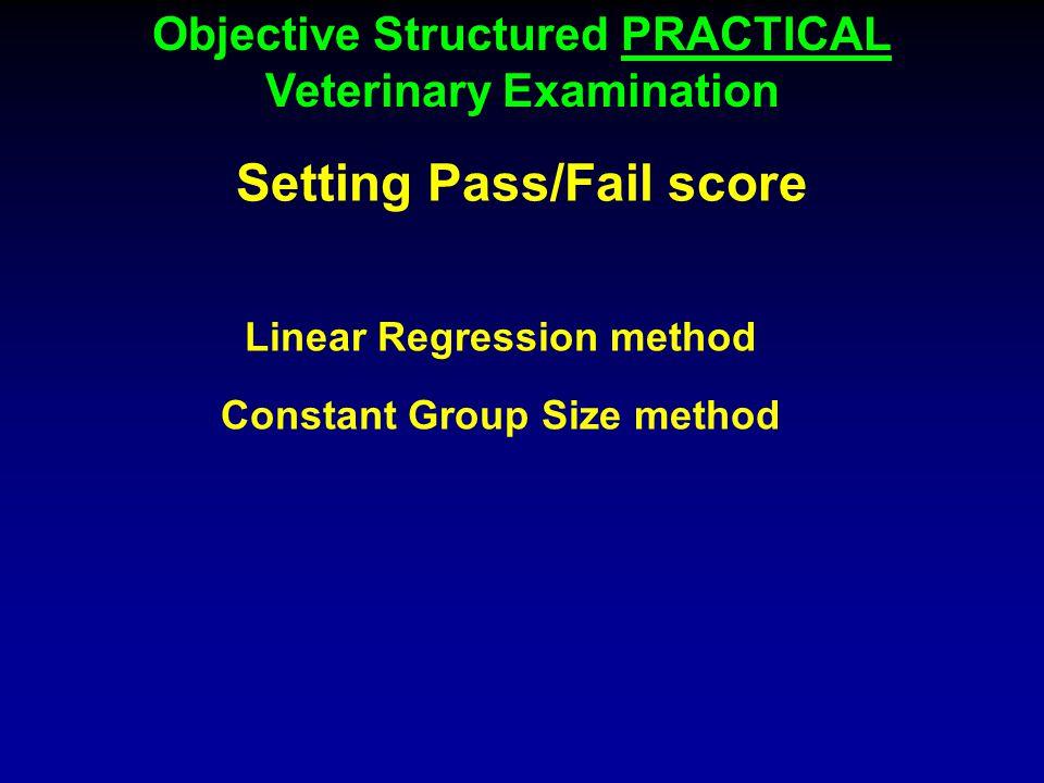 Setting Pass/Fail score