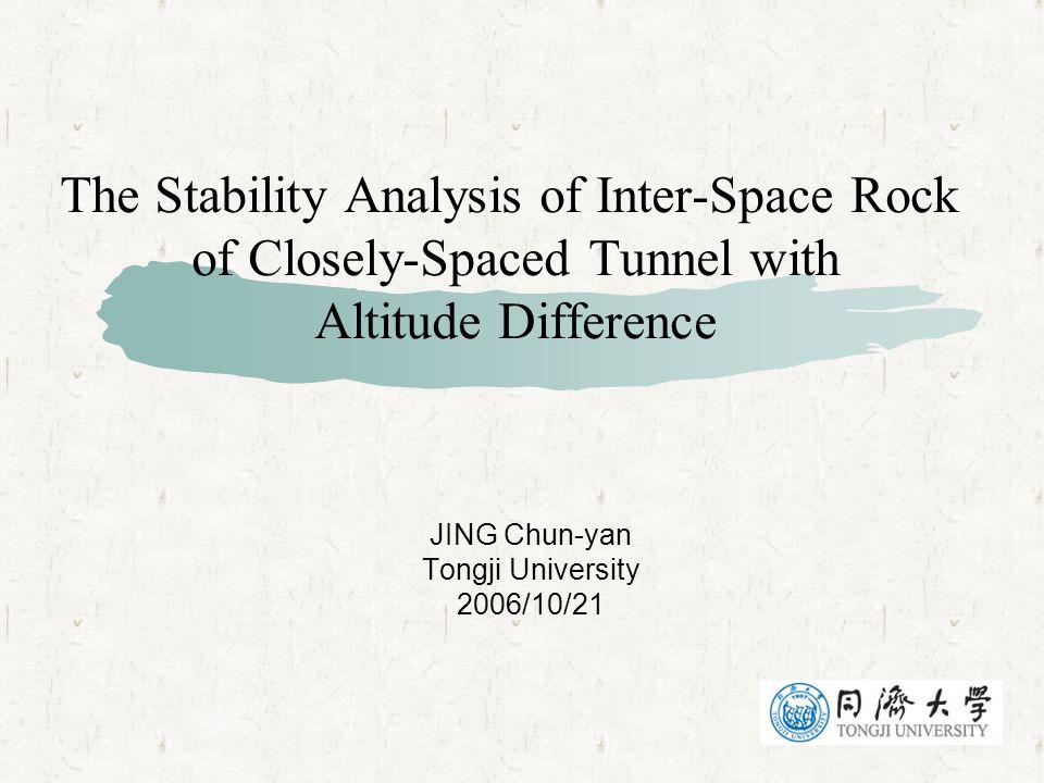 JING Chun-yan Tongji University 2006/10/21