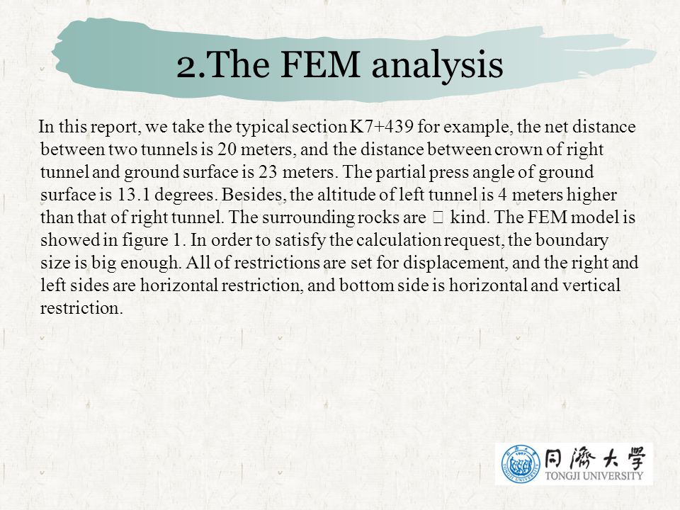 2.The FEM analysis