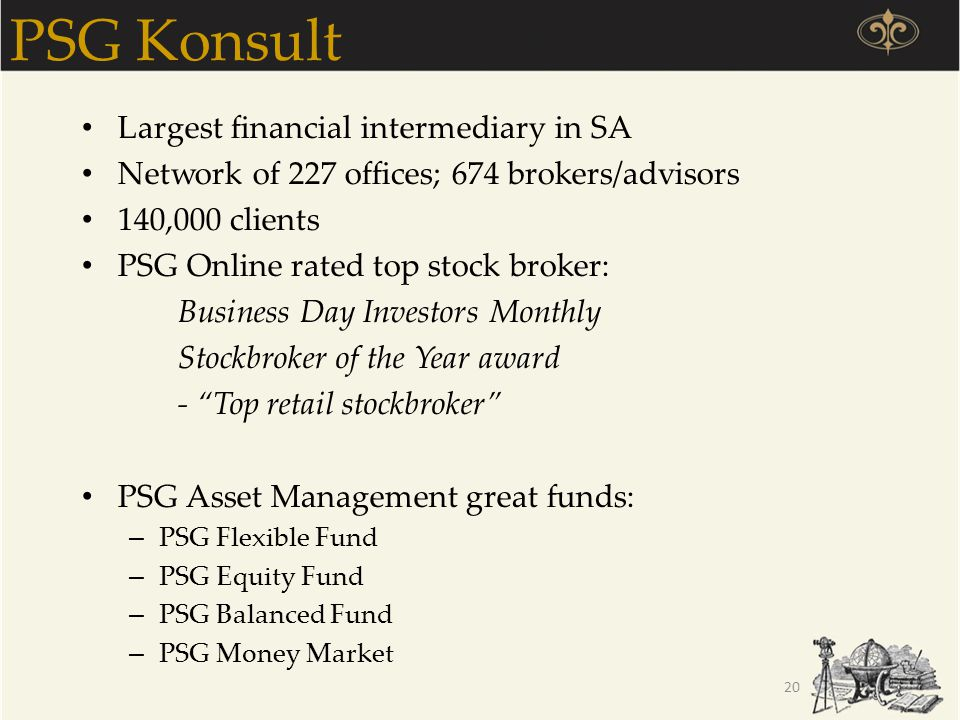 PSG Konsult Largest financial intermediary in SA