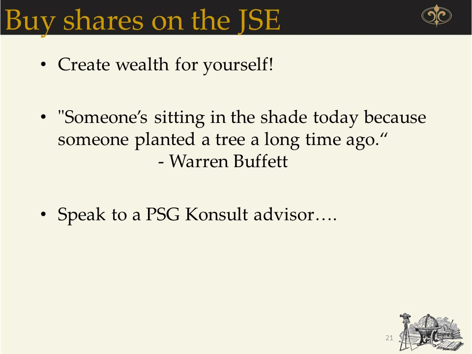 Buy shares on the JSE Create wealth for yourself!