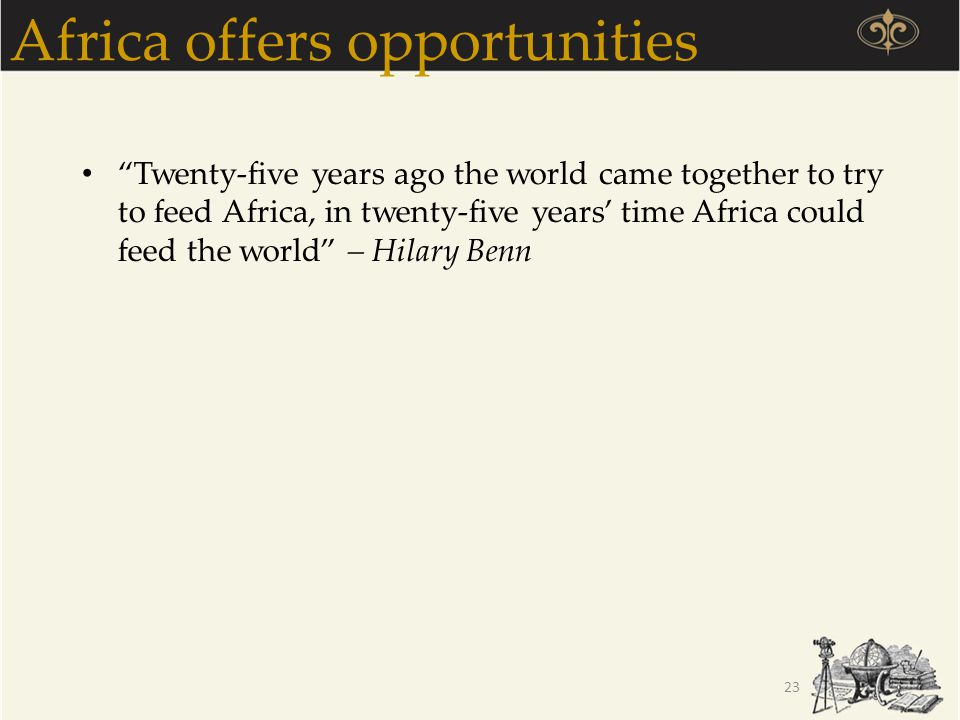 Africa offers opportunities