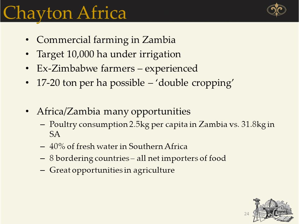 Chayton Africa Commercial farming in Zambia