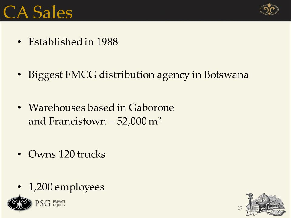 CA Sales Established in 1988