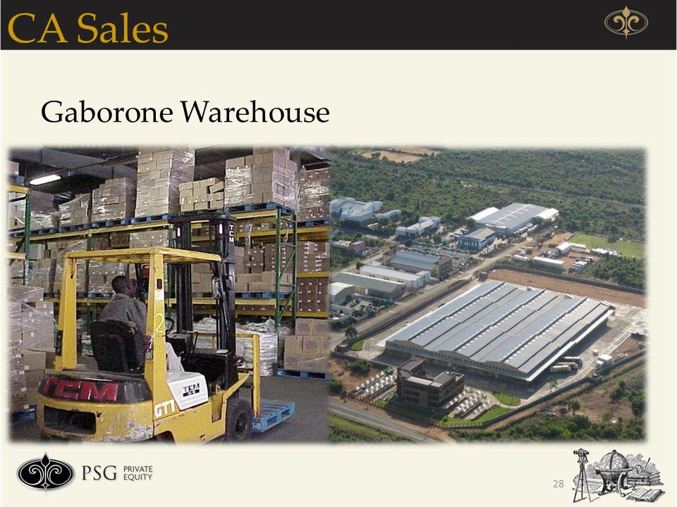 CA Sales Gaborone Warehouse