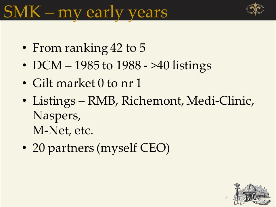 SMK – my early years From ranking 42 to 5