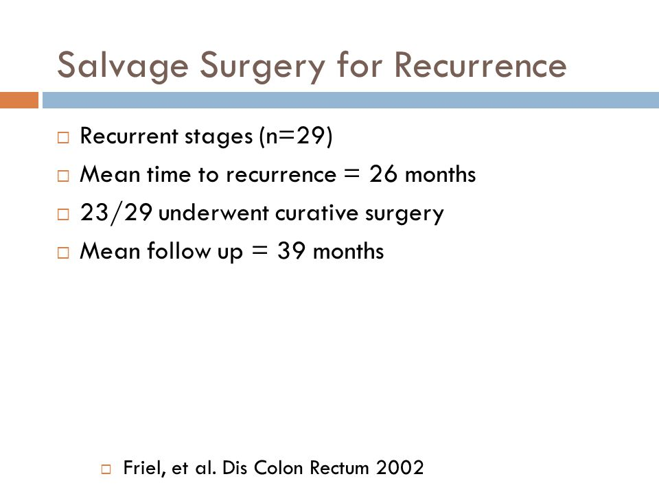 Salvage Surgery for Recurrence
