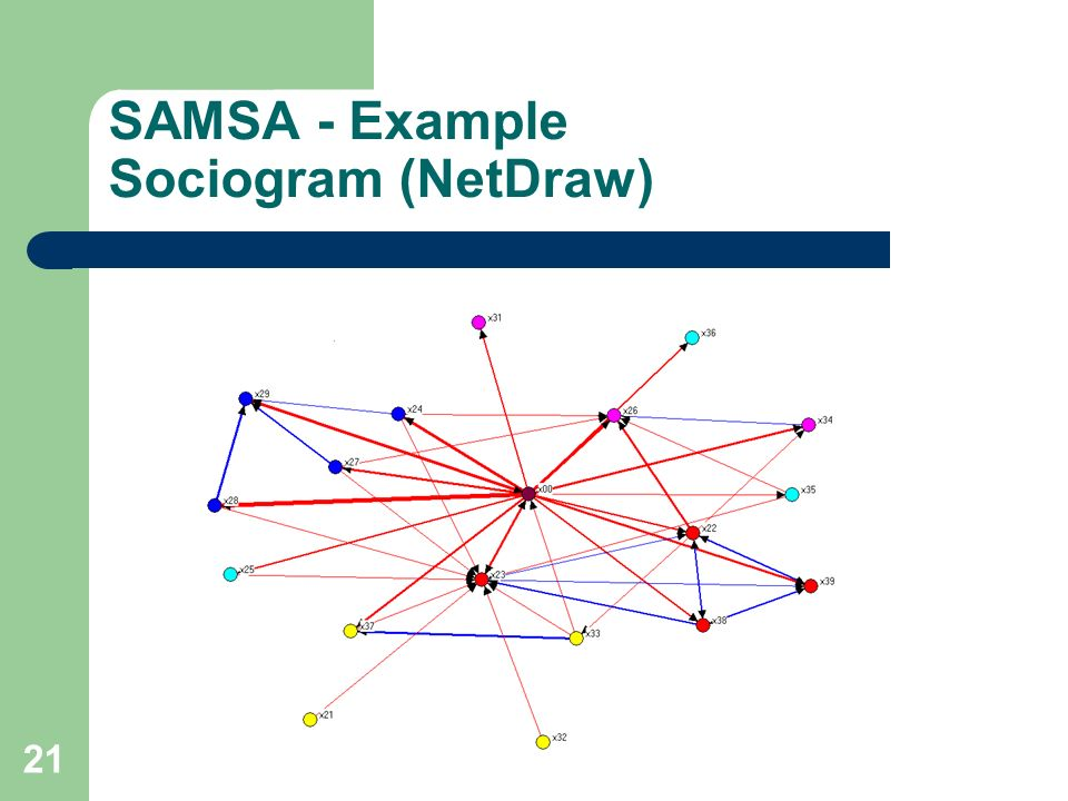 SAMSA - Example Sociogram (NetDraw)