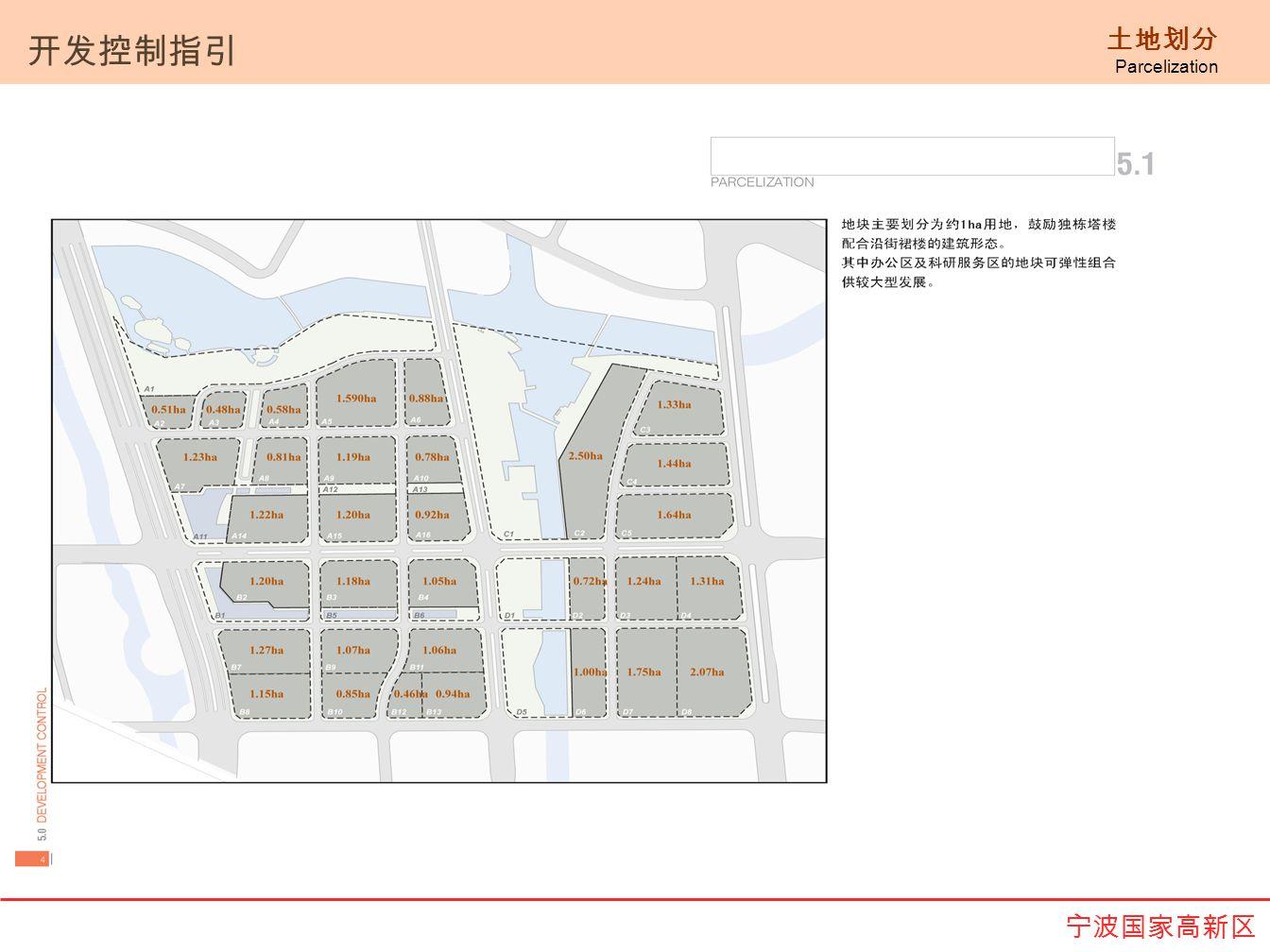 土地划分 Parcelization 开发控制指引 宁波国家高新区