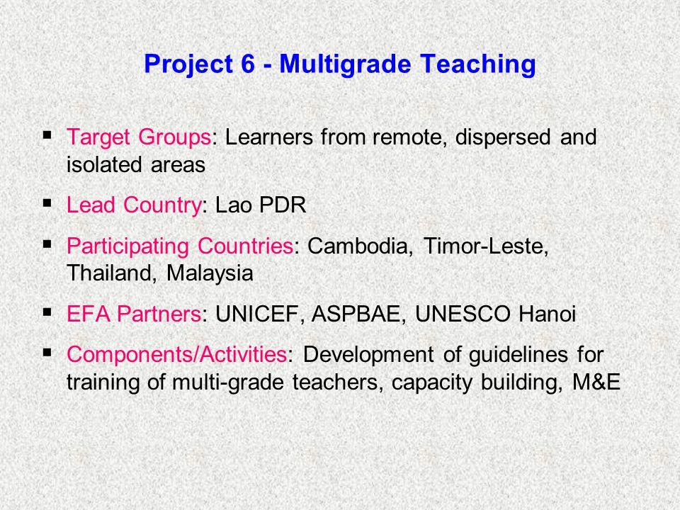 Project 6 - Multigrade Teaching