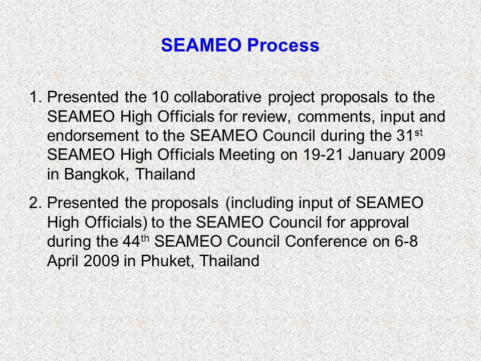 SEAMEO Process